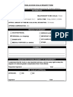 Ride Request Form