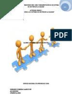 Actividad Unidad 1 Introducción a Los Sistemas de Gestión de La Calidad