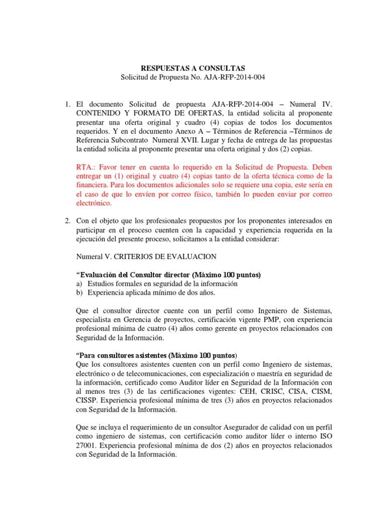 Lujoso Plantilla De Evaluación De Rfp Bosquejo - Colección De ...