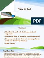 Flow in Soil