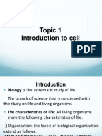 Topic 1- Introduction to Cell
