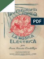 1944 Castillejo Telegrafia Rapida Musica Electrica