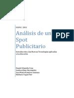Análisis de Un Spot Publicitario