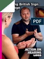 Learning British Sign Language