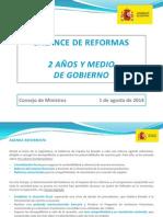 Balance de Reformas Dos Años y Medio de Gobierno (PDF)