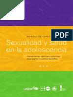 Manual de Capacitación Sexualidad y Salud en La Adolescencia