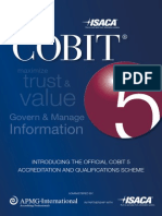 COBIT 5 Scheme Brochure