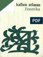 Lietuviu Kalbos Atlasas Fonetika