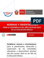 Normas de Inicio 2014