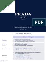Prada 1q 2014 Results Presentation