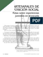 Hilos Artesanales de Composicion Social-Duschatzky