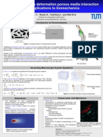 Coupled flow large deformation porous media interaction and applications to biomechanics