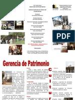TRIPTICO DE LA GERENCIA DE PATRIMONIO CULTURA BARINAS