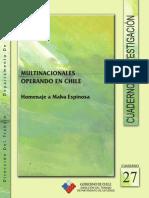 Cuadernos de Investigación Nº27 Multinacionales Operando en Chile. Homenaje a Malva Espinosa