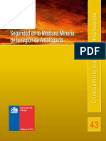 Cuadernos de Investigación Nº43 Seguridad en La Mediana Minería de La Región de Antofagasta