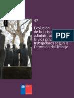 Cuadernos de Investigación Nº47 Evolución de La Jurisprudencia Administrativa La Vida Privada de Los Trabajadores Según La DT