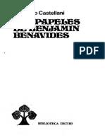 Castellani - Papeles de Benjamin Benavides