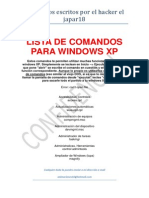 Lista de Comandos Para Windows Xp