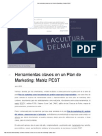 Herramientas Claves en Un Plan de Marketing_ Matriz PEST