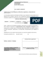 Formato 1 Carta de Presentacion