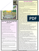 Simple Past Tense the Frog Prince 1