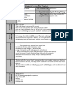 integrated lesson plan template