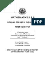 Sem -1 -Engineering Maths - I & II