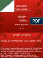 presentacion de nivel de organizacion biologica  proyecto