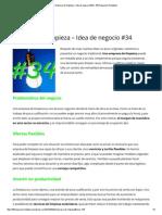 Empresa de Limpieza – Idea de Negocio #34 _ 100 Negocios Rentables