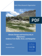 Climate Change and Food Security - Afghanistan