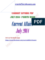 Current Affairs July 2014 Fourth Week