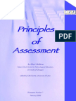 Principles of Assessment