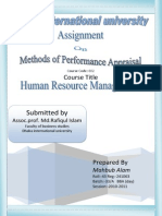 Method of Performance Apraisal