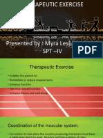 therapeutic exercise summary