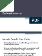 Evaluasi Investasi