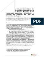 Elaboración de los proyectos básicos de Prevención de Incendios Forestales en Parques Naturales Comunitat Valenciana