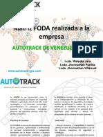 Matriz Foda Realizada a La Empresa Autotrack de Venezuela