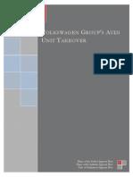 Volkswagen Groups Audi Unit Takeover Case Analysis