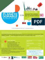 Salon Planete Durable flyer