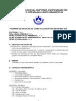 PROGRAMA DE DISCIPLINA- FÍSICA