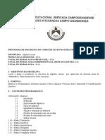 PROGRAMA DE PROGRAMA DE ÁLGEBRA LINEAR