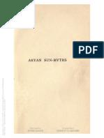 Aryan Sun Myths- The Origin of Religions.titcOMB, Sarah E. 1889