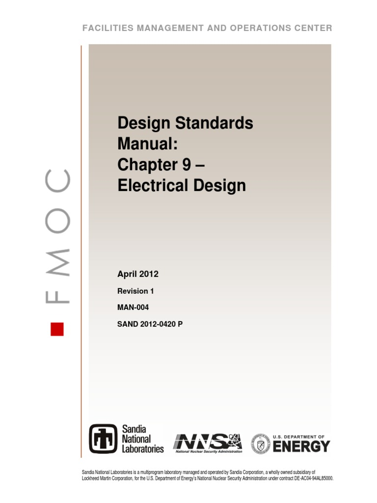 Man 004 Design Standards Manual Ch 09 Electrical 277 Volt Light Wiring Diagram In Addition Hoa Switch Lighting