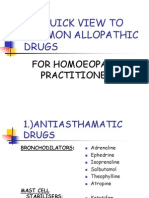 Common Allopathic Drugs
