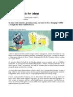 A Tough Search for Talent, for Civil Servant