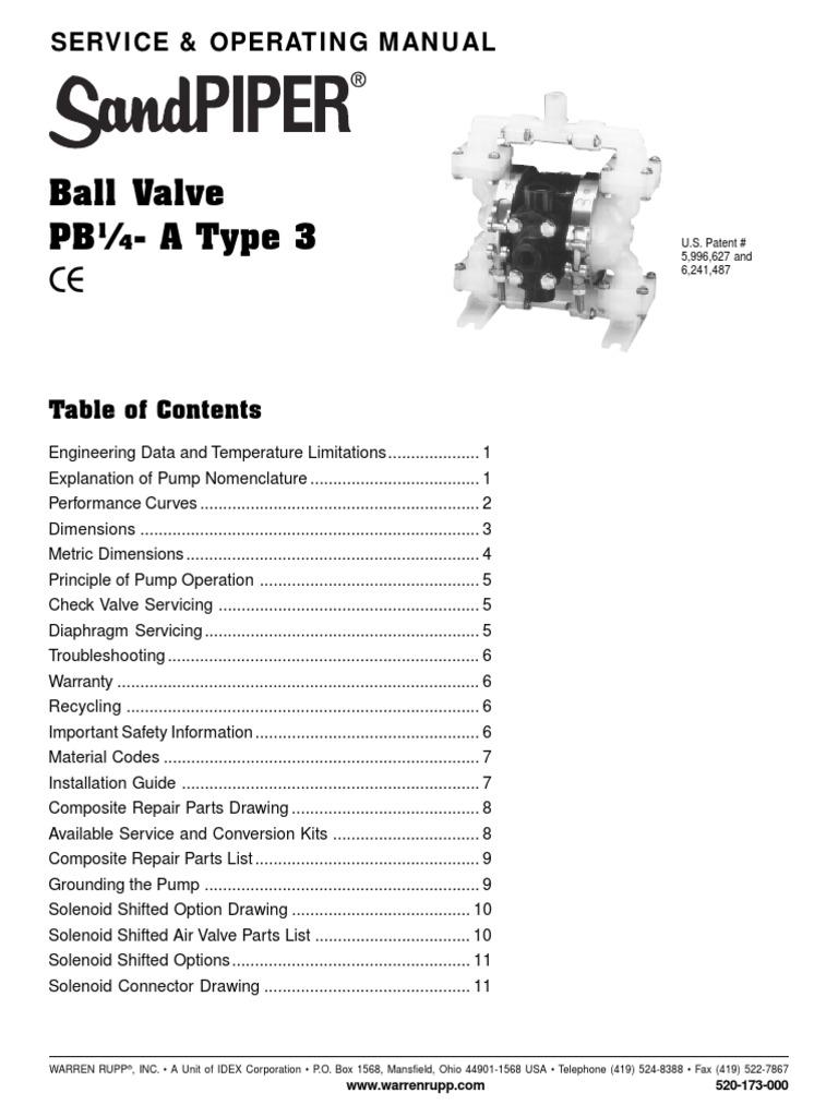 Sandpiper Floc Pump Pb14asvcman Valve Wiring Diagram