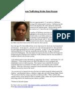 Free Human Trafficking Victim