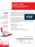 ZYCOO CooVox-U60 SOHO/SMB Asterisk IP PBX Appliance Datasheet