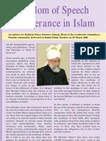 Freedom of Speech & Tolerance in Islam