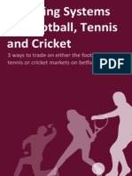 3 Trading Systems for Football Tennis and Cricket1